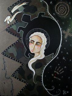 "Deja Vu / 48"" x 36"" / acrylic on canvas ©Virginia Maria Romero / SOLD"
