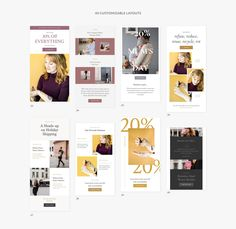 Kate - Newsletter Templates by Sparrow & Snow on Newsletter Design, Mockup, Mail Chimp Templates, Email Design, App Design, Ui Elements, Free Instagram, Email Templates, Model