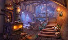 Art Fantasy Cottage Interior 1