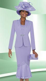 Style : BM47765 Sizes : 12 14 16 18 20 22 24 26 28 30 32 34 36 38 Colors : Lilac ( 3pc PeachSkin Ben Marc Designer Sunday Suit ) Regular Price : $319 Our Price : $269 www.firstladyboutique.net