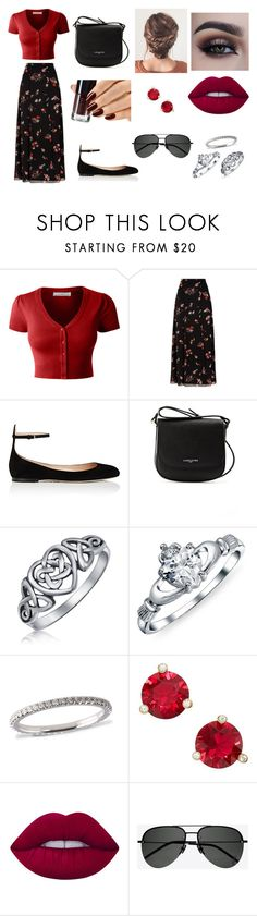 """""""Walking around a flea market with your boyfriend"""" by sarapotter98 on Polyvore featuring LE3NO, RED Valentino, Valentino, Lancaster, Bling Jewelry, Kate Spade, Lime Crime, Yves Saint Laurent, Spring and outfit"""