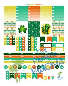 Free Get Lucky March Planner Stickers at The Palmetto Peaches