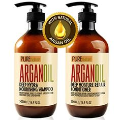 Moroccan Argan Oil Shampoo and Conditioner SLS Sulfate Free Organic Gift Set - Best for Damaged, Dry, Curly or Frizzy Hair - Thickening for Fine / Thin Hair, Safe for Color and Keratin Treated Hair - Health and Personal Care Product Search Thickening Shampoo For Men, Shampoo For Dry Scalp, Good Shampoo And Conditioner, Sulfate Free Shampoo, Hair Shampoo, Biotin Shampoo, Itchy Scalp, Argan Oil Hair Mask, Hair Oil