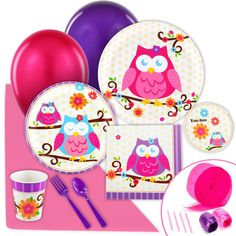Owl Blossom Value Party Pack | BirthdayExpress.com