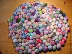 Текстиль, ковры ручной работы. Ярмарка Мастеров - ручная работа Коврик валяный Цветные камушки. Handmade.