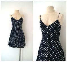 summer vintage dress polka dots! $36