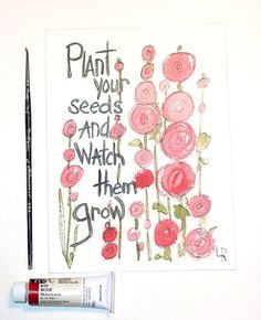 Watercolor Painting Illustration Botanical by BetweenTheWeeds,