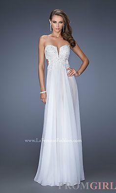 Long Strapless Prom Dress by La Femme