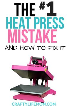 How to Fix the Heat Press Mistake Crafters Make. Learn how NOT to make the same mistakes I did and get perfect every time. : How to Fix the Heat Press Mistake Crafters Make. Learn how NOT to make the same mistakes I did and get perfect every time. Diy Vinyl Projects, Vinyl Crafts, Fun Projects, Best Heat Press Machine, Do It Yourself Crafts, Frame Crafts, Dollar Store Crafts, Heat Transfer Vinyl, Decoration