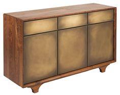 Sterling Side Board - Brass Encased in Resin Doors