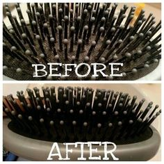 to: Clean Hair brushes Best Way To Clean A Hair Brush - It's really easy and makes a BIG difference!Best Way To Clean A Hair Brush - It's really easy and makes a BIG difference! Diy Cleaning Products, Cleaning Hacks, Cleaning Brushes, Brush Cleaning, Cleaning Solutions, Diy Beauty, Beauty Hacks, Beauty Tips, Limpieza Natural