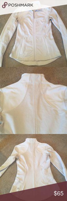 Lululemon jacket/cream color4 / checkered pattern Cotton. Gorgeous. lululemon athletica Jackets & Coats