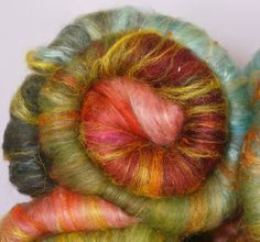 Fiber Batts for spinning and felting  Lake Town by inglenookfibers