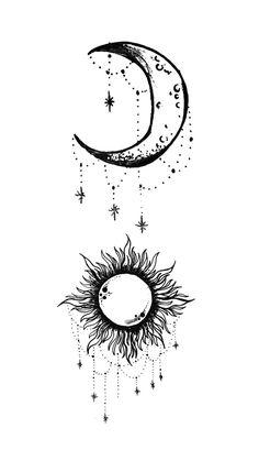Sun and moon ideen mond Sun and moon, - Sun and moon ideen mond Sun - Tattoo MAG Bff Tattoos, Lotusblume Tattoo, Tattoo Mond, Tattoos Infinity, Friend Tattoos, Mini Tattoos, Cute Tattoos, Beautiful Tattoos, Body Art Tattoos