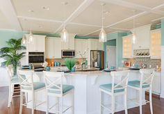 turquoise and white kitchen | Echelon Interiors