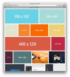 jQuery CollagePlus is a jQuery plugin that arranges your images to fit exactly inside a container. You have control over padding between images, the target row height, and CSS borders, and the plugin handles the rest.