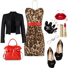 Red leopard ~ WOW, Va Va Voom!