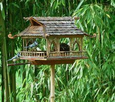 3Dvert: MANGEOIRES pour oiseaux . Réalisations faites par un ami dans son jardin