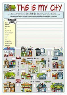 THIS IS MY CITY worksheet - Free ESL printable worksheets made by teachers