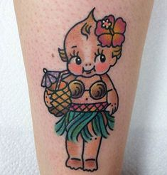 06/16/15 / Author: Inked Staff For as long as we can remember Kewpie dolls have been a staple of American Traditional tattoos. The German made dolls exude innocence so it's quite a fun ...