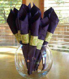 pliage de serviette en papier et idée de décoration de table