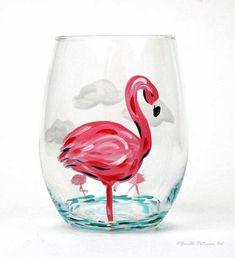 Flamingo Stemless Glass