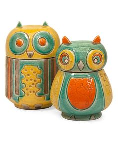 Look at this Leon Owl Pot Set on #zulily today!