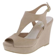 6740be4208ee Get high style with the Sadee from Brash! Nude Wedges