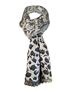 Cejon Sparkle Long Scarf (One Size, Black/Brown/Silver). 93% Rayon 7% Metallic Yarn. Hand wash cold - Only non chlorine bleach when needed. Dry flat. Coll iron when needed.