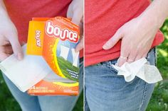 Did you know dryer sheets can make your life easier well beyond the laundry room? Check out the best dryer sheet hacks out there. Dryer Sheet Hacks, Best Dryer, Keep Bugs Away, Do It Yourself Organization, Outdoor Parties, Outdoor Games, Backyard Parties, Outdoor Stuff, Outdoor Play