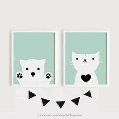 Printable Nursery Art Set of 2 Baby room wall art Poster Kids