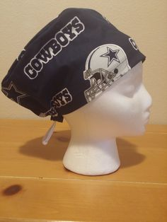Women's Surgical Cap, Scrub Hat, Chemo Cap, NFL Dallas Cowboys by Scrubnogginz on Etsy