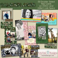 Camouflaged Senior Rep/411 Card Collection- use code FBphoto for 15% off your entire purchase! Professional Photoshop Templates for Photographers by FotoTale Designs Graduation Templates, Graduation Ideas, Senior Rep Cards, Senior Boys, Graduation Announcements, Camouflage, Photographers, Parties, Photoshop