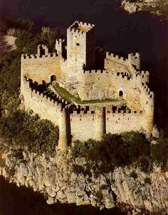 Almourol Castle - once a Templar Knights stronghold during the Reconquista, and is situated on a small rocky island in the middle of the Tagus River, Portugal