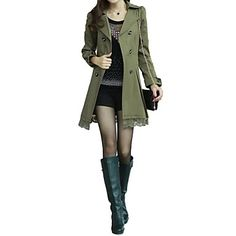 Women's+Double+Breasted+Turn-down+Collar+Long+Sleeve+Trench+Coat+–+USD+$+30.09