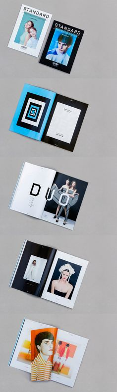 """My name is Standard. Standard Magazine, a french magazine about fashion and culture. Number 41 / The """"Duo"""" issue: two covers, two parts, black and white, mirror and symetrical layouts, two papers. Art direction, design and typeface by My name is. (fashion part printed on a glossy paper)"""