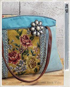 introducing el.la in needlepoint pocketbook / by redneckchic