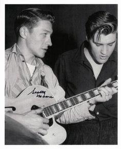 Elvis & Scotty Moore rehearsing....
