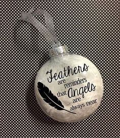 Memorial ornament Christmas ornament in memory of ornament Unique Christmas Gifts, Homemade Christmas Gifts, Diy Christmas Ornaments, Christmas Balls, Christmas Angels, Christmas Art, Christmas Crafts, Christmas 2019, Christmas Ideas