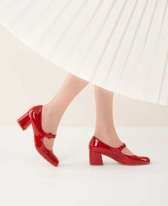 Collezione scarpe Lazzari Primavera Estate 2016 - Mary Jane in vernice rossa con tacco medio