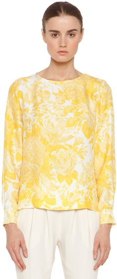 Toile De Jouy Print Blouse in Citrus Multi - Lyst