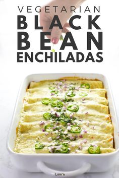 Home Made Doggy Foodstuff FAQ's And Ideas This Vegetarian Black Bean Enchiladas Recipe Is Healthy Yet Incredibly Flavorful And Satisfying. Best Of All It Is Easy And The Leftovers Are Awesome Vegetarian Main Dishes, Vegetarian Recipes, Healthy Recipes, Vegetarian Vietnamese, Vegetarian Italian, Vietnamese Food, Vegetarian Dinners, Gourmet Recipes, Mexican Food Recipes
