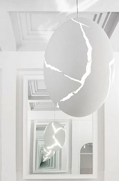 ingo maurer: broken egg architectural installation for artpark in inhotim