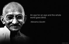 Mahatma Gandhi quote on war and peace. by vicky