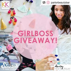 Want to win a gift card for @averynailboutique ? Follow @parlorbeautybar and enter to win! . #epost @parlorbeautybar (@get_repost)  Hey Lovelies we're so excited to announce our Girlboss giveaway! Our winner will be given the gift of a fabulous pair of Katie Kime earrings a gift card from Avery Nail Boutique a week pass from Stretch Yoga and a fab blowout from  Parlor Beauty Bar!  TO ENTER FOLLOW THESE STEPS:  Tag your BFF. Like this post and repost it with the hashtag #ParlorBeautyBarATX…