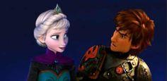 Elsa and Hiccup. Hiccelsa/Elsacup.
