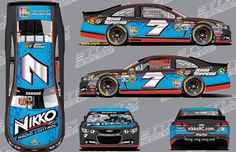 Alex Bowan will drive this scheme in the 1st five races of the 2015 season for Tommy Baldwin Racing