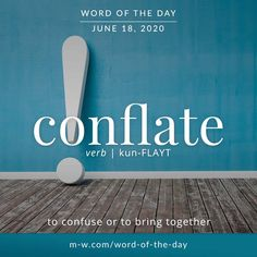 'Conflate' is the #wordoftheday . #language #languagelearning #merriamwebster #dictionary Vocabulary Building, Vocabulary Words, Creative Writing Tips, Learn English Words, Word Of The Day, Idioms, Some Words, Solitude, Merriam Webster