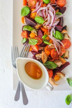 Beetroot Panzanella Salad