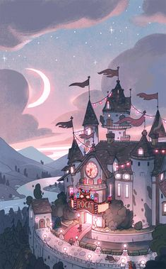 New fantasy art wallpaper artworks ideas Kawaii Wallpaper, Cartoon Wallpaper, Disney Wallpaper, Drawing Wallpaper, Aesthetic Pastel Wallpaper, Aesthetic Wallpapers, Nature Wallpaper, Wallpaper Space, Anime Scenery Wallpaper